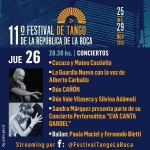 Cañón en el Festival de Tango de la República de La Boca